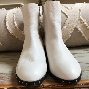 Topshop White Studded Ankle Bootie